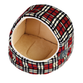 Gorpets Argyll Hooded Cat Bed -  Red Check,  3 sizes